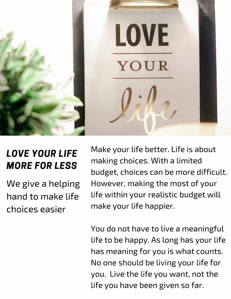 Love Your Life More For Less with CheeringupInfo