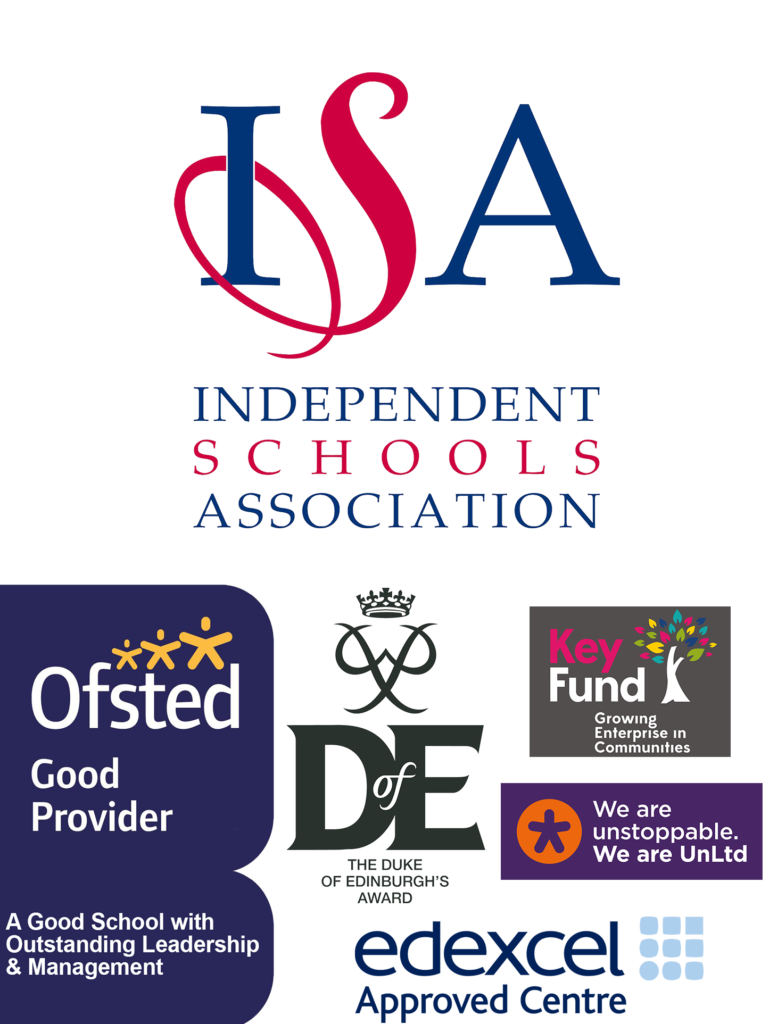 This image features logos including Ofsted, ISA, Duke of Edinburgh, Key Fund, UnLtd and EdExcel