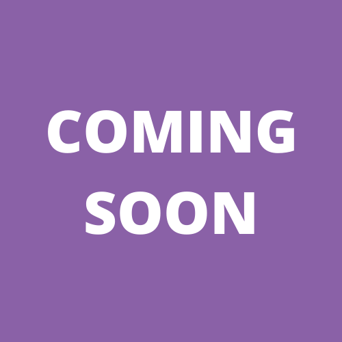 "Image with purple background and white text reading ""coming soon"""