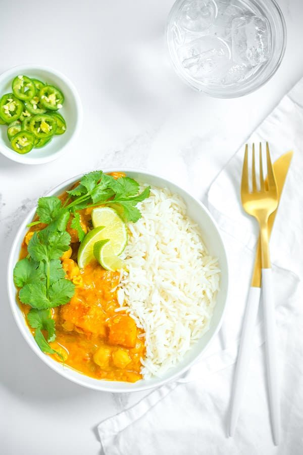 Meal Prep Creamy Sweet Potato and Chickpea Curry