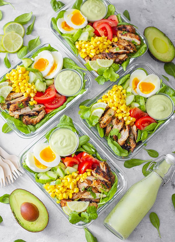 Meal Prep Grilled Lime Chicken and Avocado Salad