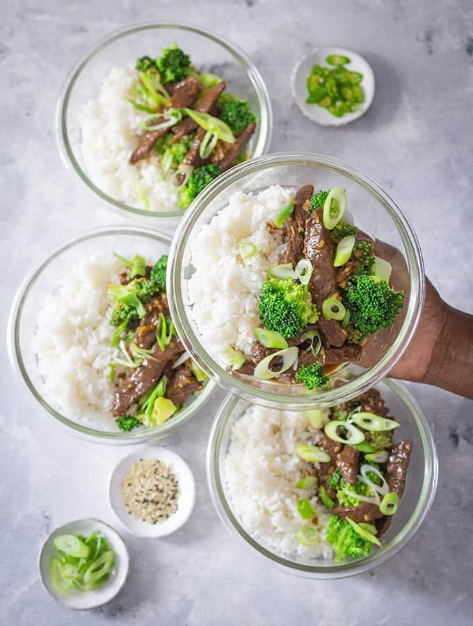 Easy Beef and Broccoli Meal Prep Bowls