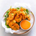 bang bang shrimp on a plate