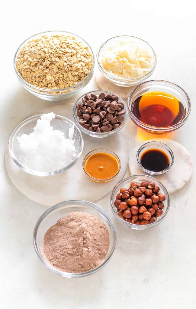 chocolate protein granola ingredients