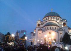 Uskrs u Beogradu : Vaskrs kod Hrama Svetog Save