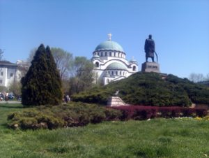 Spomenik Karađorđu kod Hrama Svetog Save u Beogradu