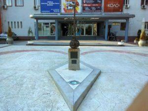 Statua posvećena muzičaru Neši Leptiru