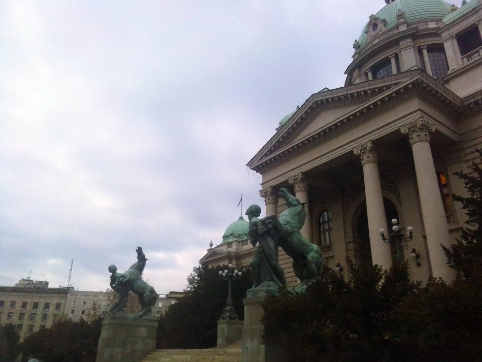 """Skulpture """"Igrali se konji vrani,a sa njima i div junaci"""" u Beogradu"""