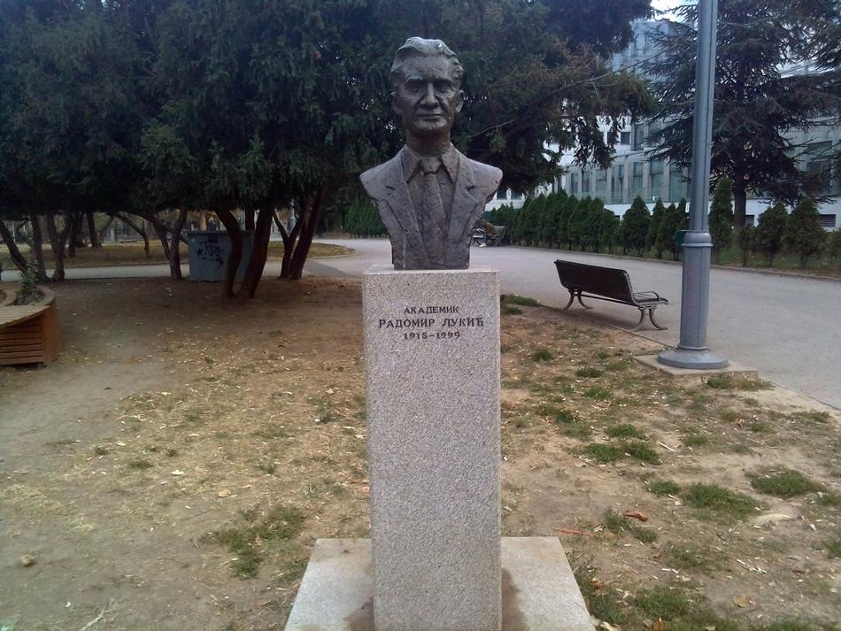 Spomen bista Radomiru Lukiću u Beogradu
