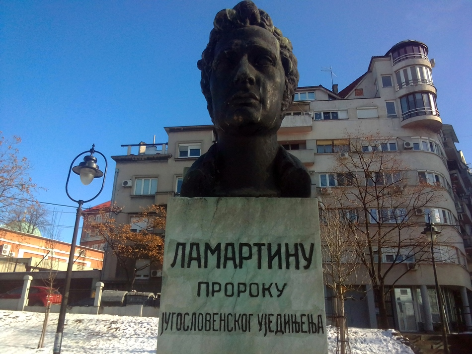 Spomen bista Lamartinu u Beogradu