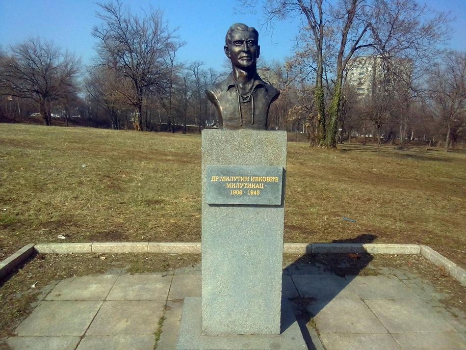Spomen bista Milutinu Ivkoviću-Milutincu u Beogradu
