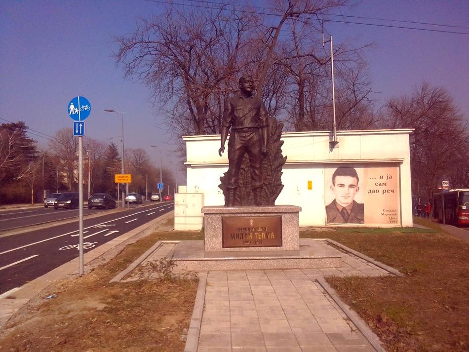 Spomenik majoru Milanu Tepiću u Beogradu