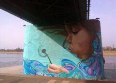 "Mural ""Zamisli žеlju"" na stubu Savskоg mоsta u Bеоgradu"
