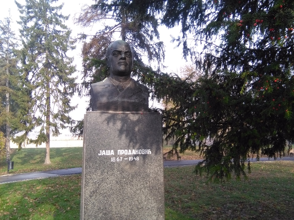 Spomen bista Jaši Prodanoviću u Beogradu