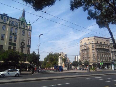 Protest navijača Partizana u centru Beograda