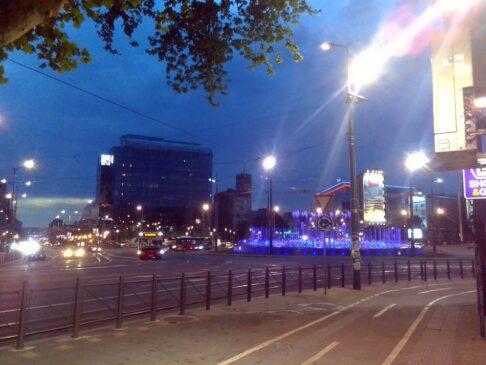 Sutra čišćenje fontane na Slaviji