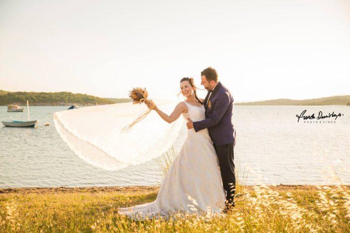 Nilay ve İsmail Ayvalık Ali bey adası Cunda düğün fotoğrafları (12)