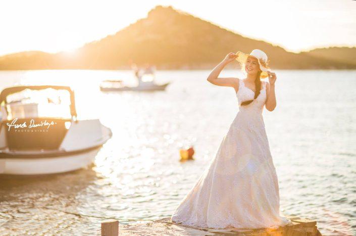 Nilay ve İsmail Ayvalık Ali bey adası Cunda düğün fotoğrafları (3)