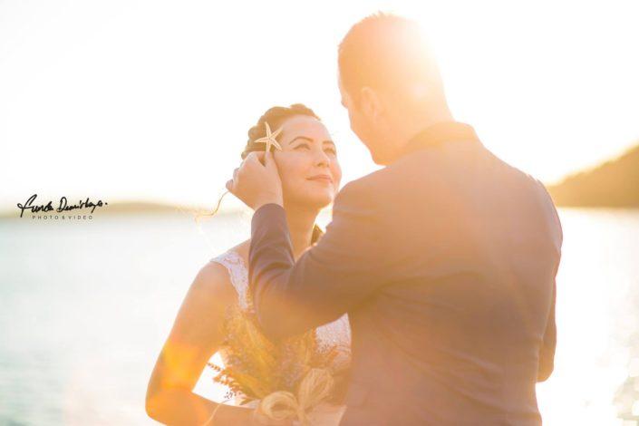Nilay ve İsmail Ayvalık Ali bey adası Cunda düğün fotoğrafları (6)