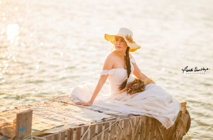 Nilay ve İsmail Ayvalık Ali bey adası Cunda düğün fotoğrafları (7)