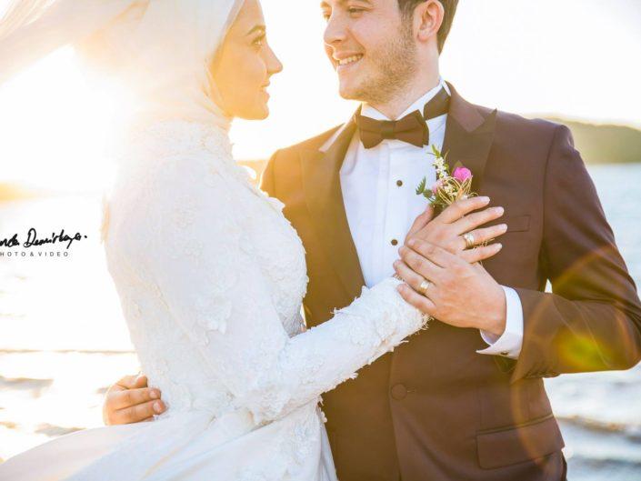 Elif ve İbrahim Ayvalık Cunda Düğün Fotoğrafları