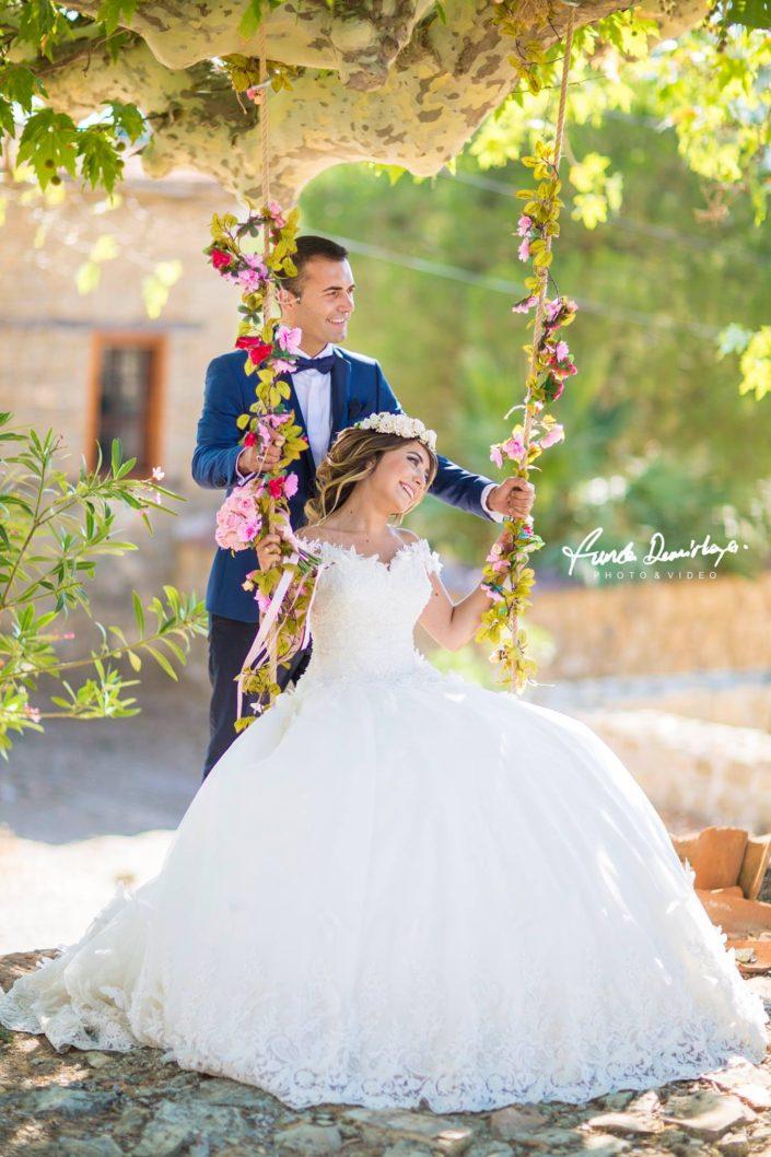 Hacer ve Mehmet Adatepe Küçükkuyu Dış mekan katalog çekimi düğün fotoğrafları