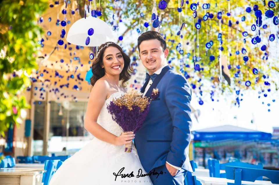 Hatice ve Erdem Ayvalık Cunda Adası Dış Çekim Düğün Fotoğrafları