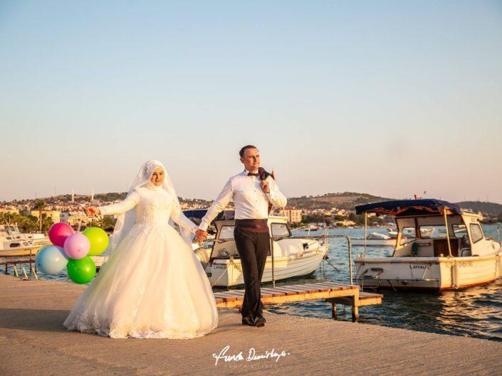 İrem ve Hüseyin Cunda Adası / Ayvalık Düğün Fotoğrafları
