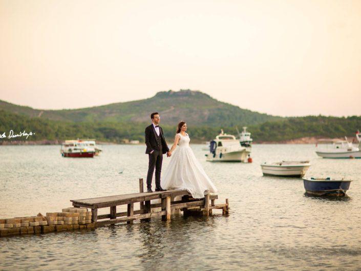 Esma ve Ahmet Ozan Cunda Adası / Ayvalık Düğün Fotoğrafları