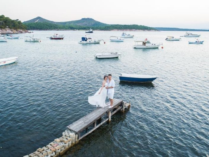 Selin ve Sezer Ayvalık Cunda Adası Couple Shooting PreWedding Save The Date AfterWedding