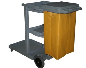 Janitors Cleaning Trolley with Storage Shelf