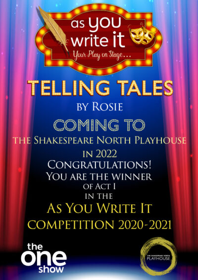 Certificate presented to winner of As You Write It Competition Rosie
