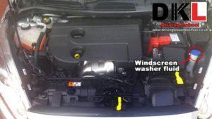 Windscreen Washer Fluid - DKL Driving School Belfast