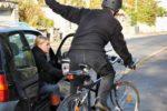 Driver opens door on cyclist