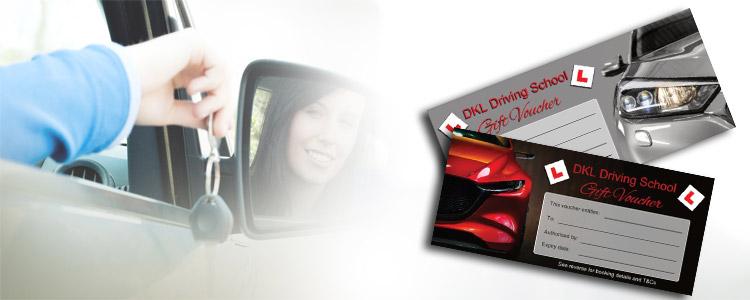 Driving lesson gift vouchers for DKL Driving School