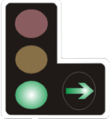 Green light with right turn filter