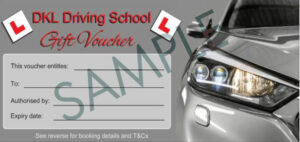 Silver car driving lesson gift voucher