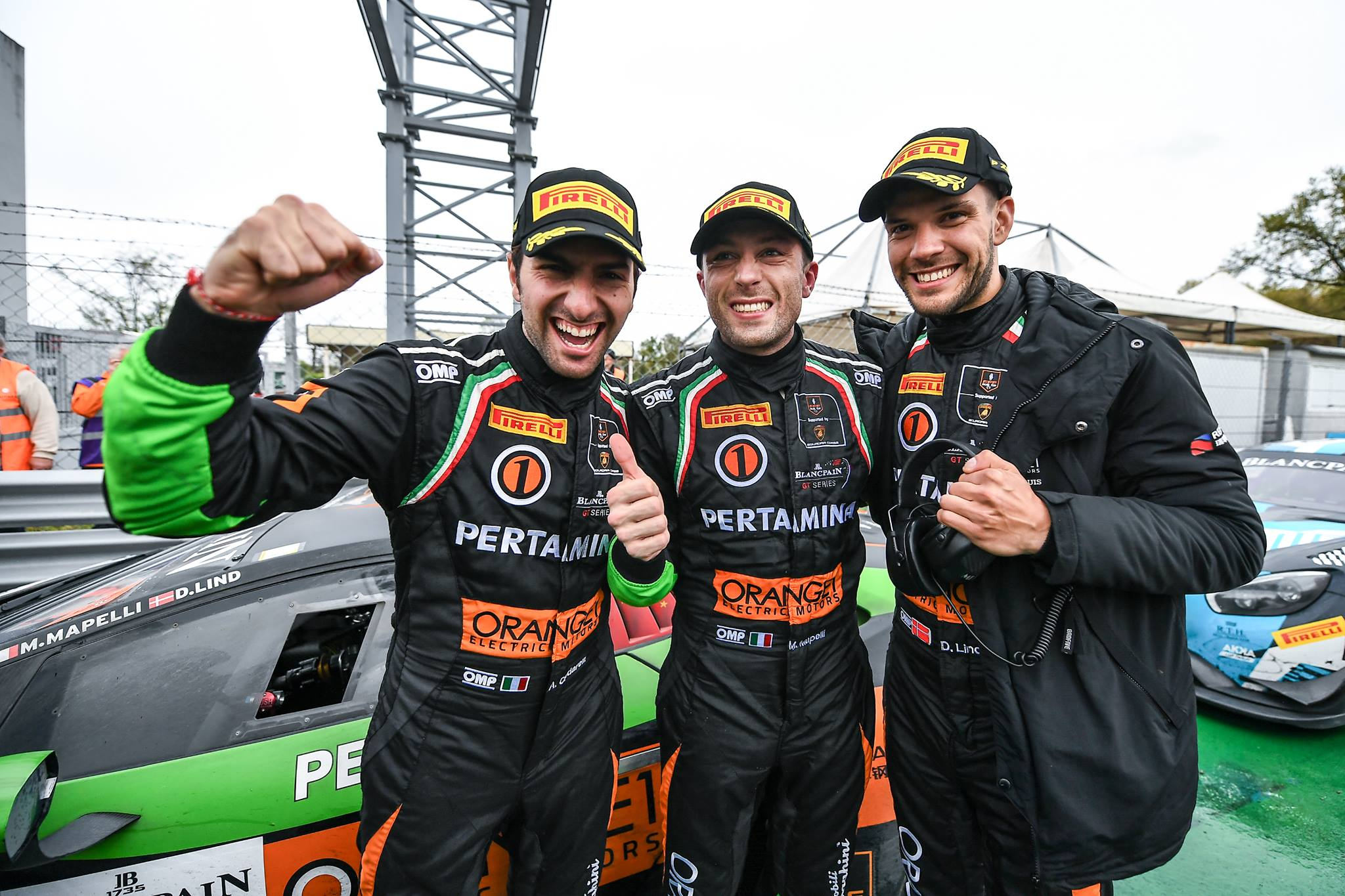 Double podium for ORANGE1 FFF RACING TEAM in the Blancpain GT Series Endurance Cup at Monza