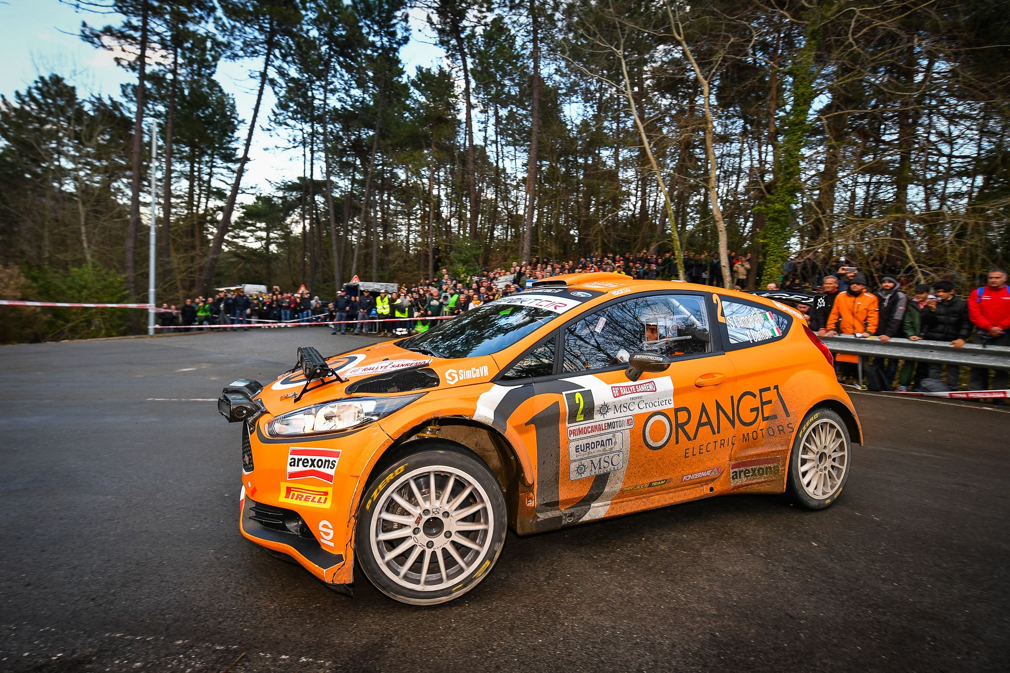 Orange1 Racing e Campedelli secondi a Sanremo dopo una gara tutta al vertice