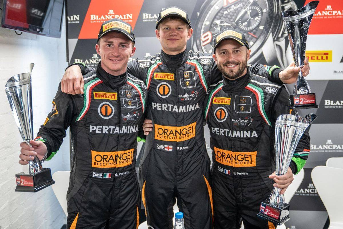 Third consecutive podium for ORANGE 1 FFF Racing in Blancpain GT