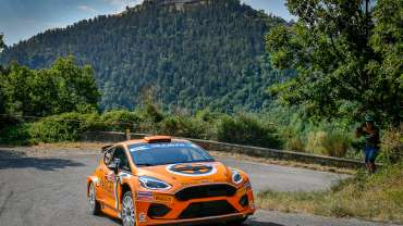 CAMPEDELLI E ORANGE1 RACING SECONDI A ROMA CON LA NUOVA FIESTA M-SPORT