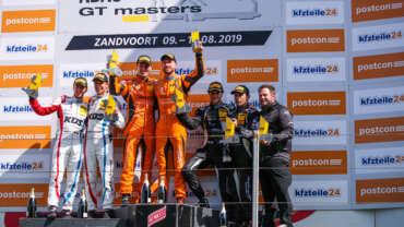Orange1 by GRT Grasser secure first win of season in ADAC GT Masters at Zandvoort