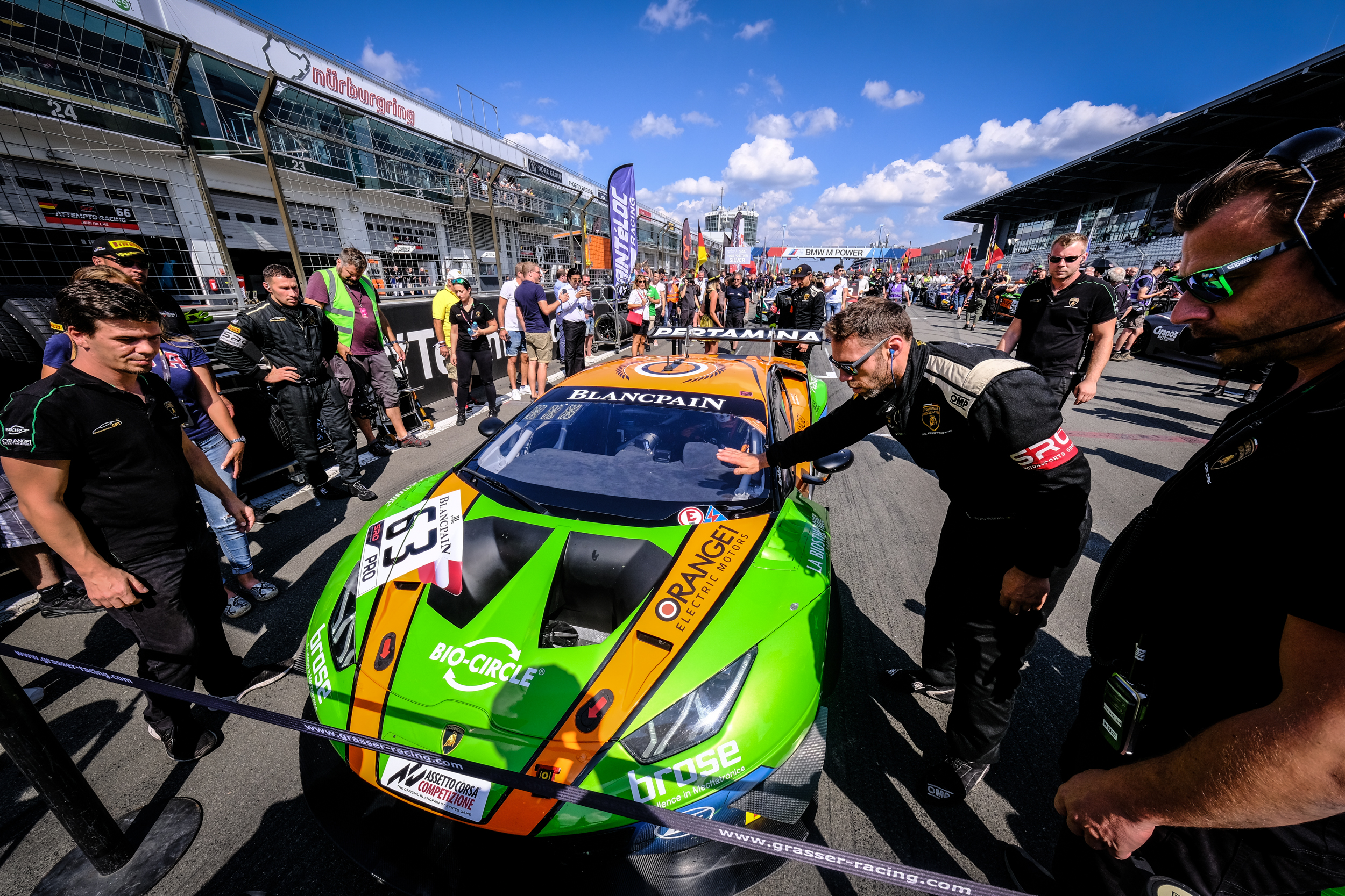Podium number three for GRT Grasser Racing in the Blancpain GT World Challenge Europe