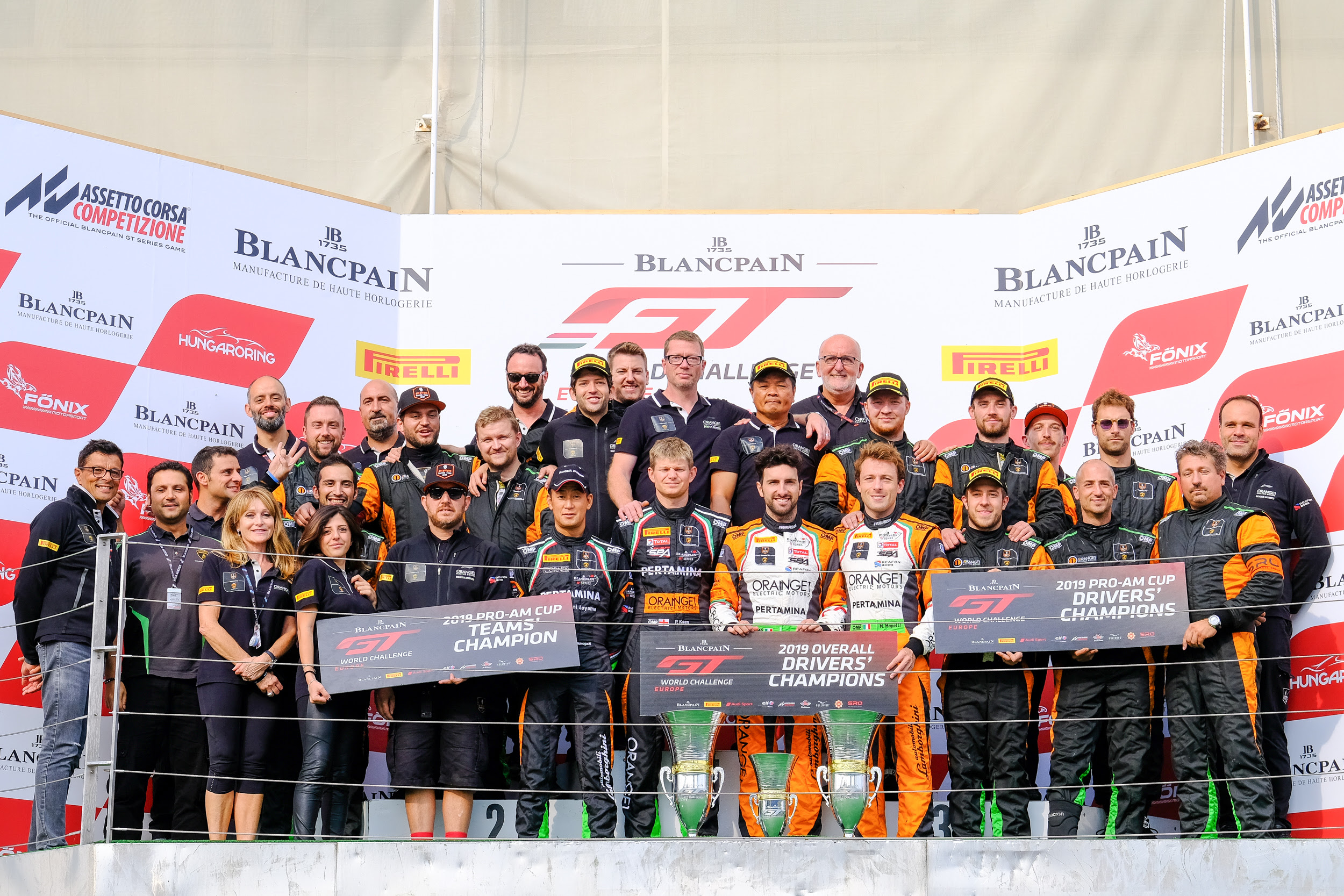 ORANGE1 FFF Racing Team by ACM sets a poker of titles in the Blancpain GT World Challenge Europe
