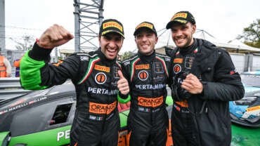 ORANGE1 FFF Racing Team by ACM in the Intercontinental GT Challenge on behalf of Lamborghini