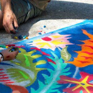 Sidewalk Chalk Party!