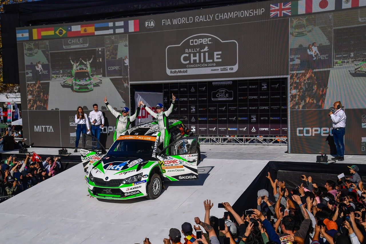 Kalle Rovanpera Wins WRC2 Pro At WRC Rally Chile