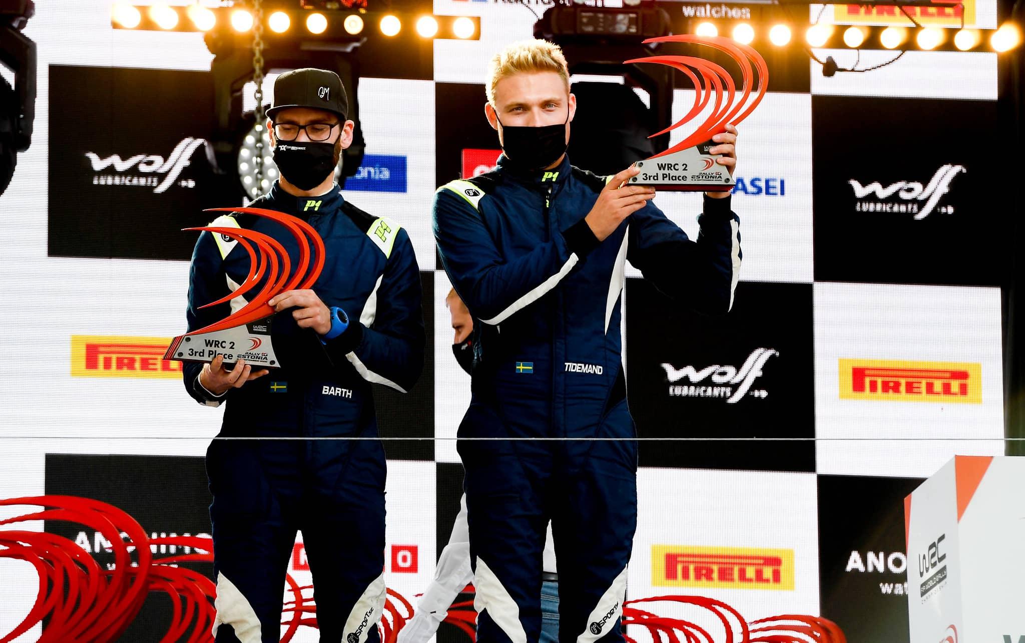 Podium finish in WRC Estonia
