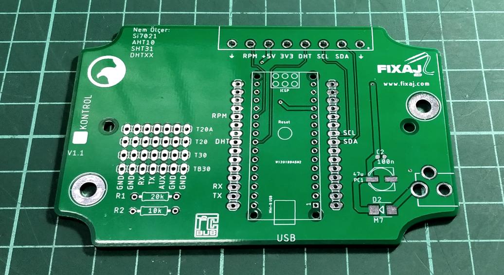 Lora ve Arduino Nano için hazır PCB