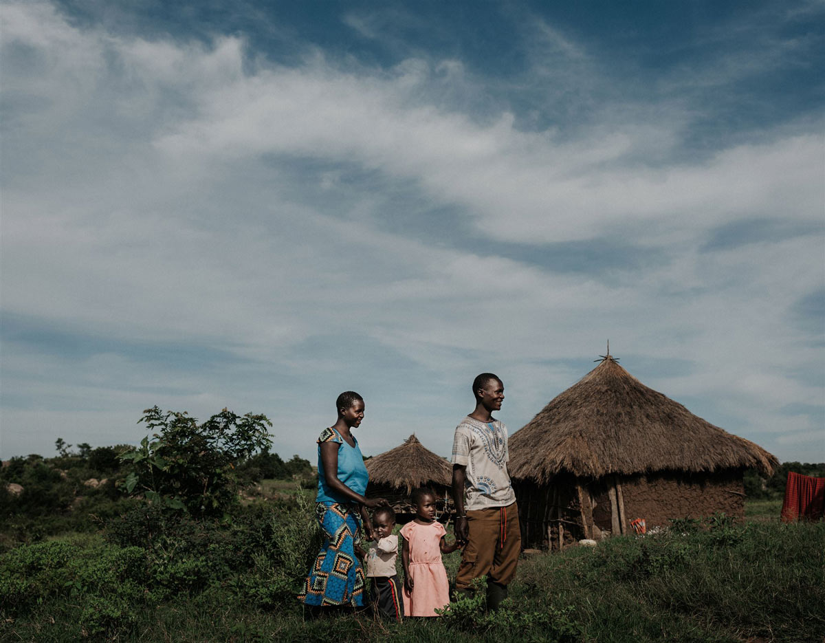 A family impacted by human-wildlife conflict in Tanzania.